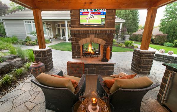 outdoor fireplaces paradise restored
