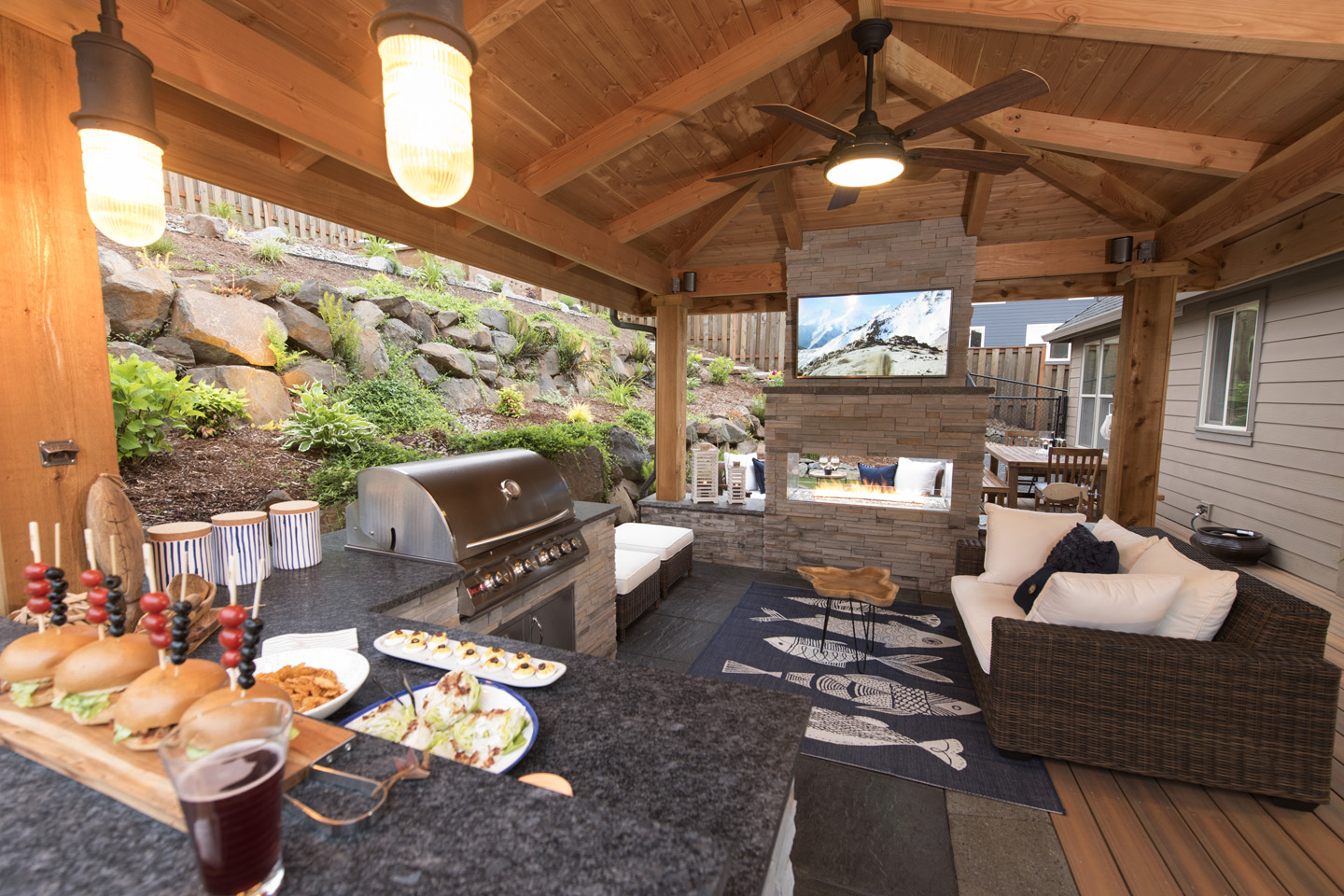 Outdoor Living Spaces - Paradise Restored Landscaping on Backyard Outdoor Living Spaces id=77491