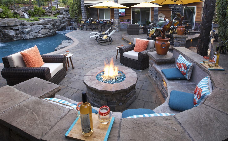 inground pool backyard design paradise restored landscaping