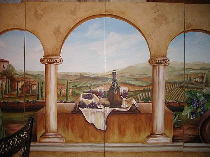 Wine Cellar Murals Wine Themes Paradise Studios Luxury Interiors