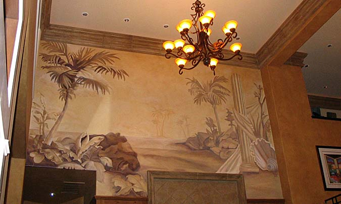SEPIA MURALS TONE ON TONE Paradise Studios Luxury Interiors