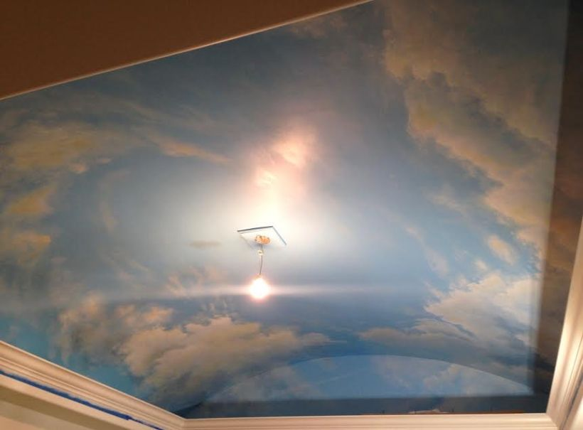 Cloudscape On Ceiling In Bellevue