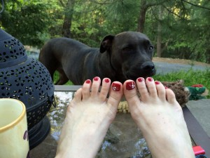 Pedicure day with Shoie