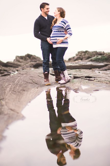 Maternity session by the sea portland maine maternity photography