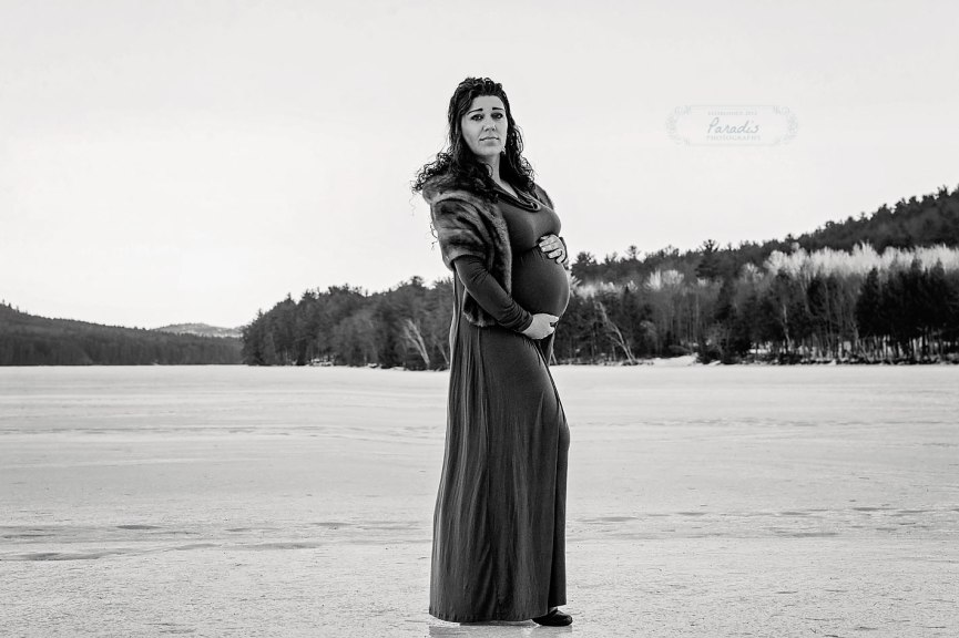 Maine Maternity Photographer | Paradis Photography Winter