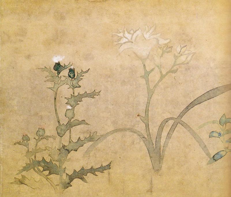 尾形光琳 Ogata Korin_四季草花図巻 siki-kusabana-zukan-02-02
