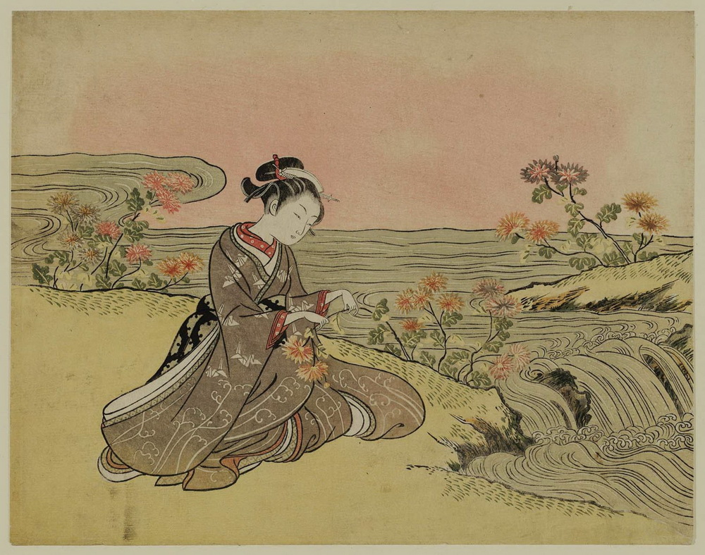 Harunobu_Parody of the Story of the Chrysanthemum Boy