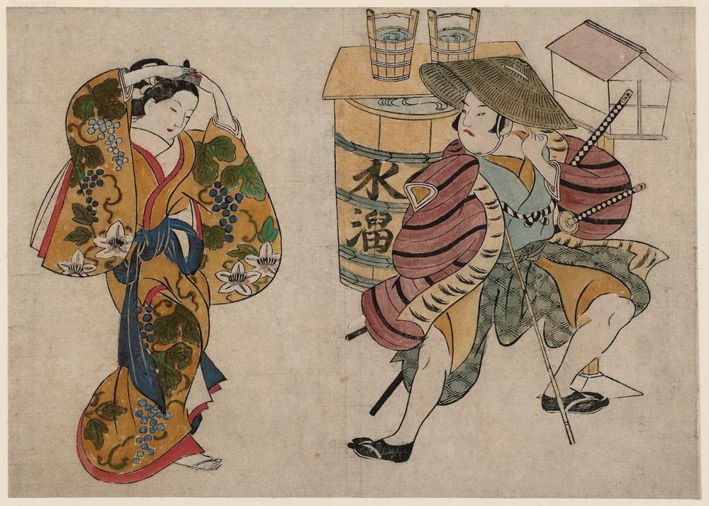 Masanobu_Street Scene in the Yoshiwara-01