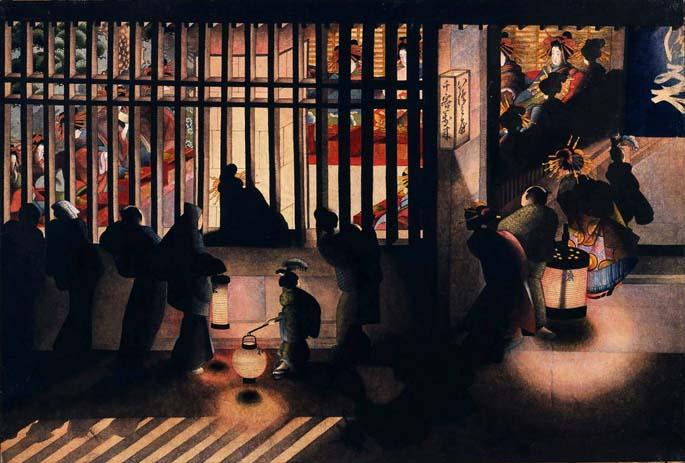katsushika-oi-Night Scene in the Yoshiwara