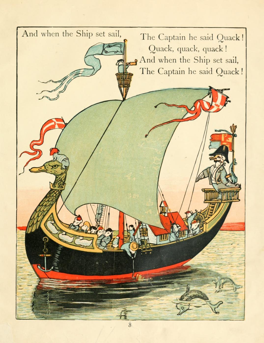 ウォルター・クレイン Walter Crane 夢の国 Fairy ship