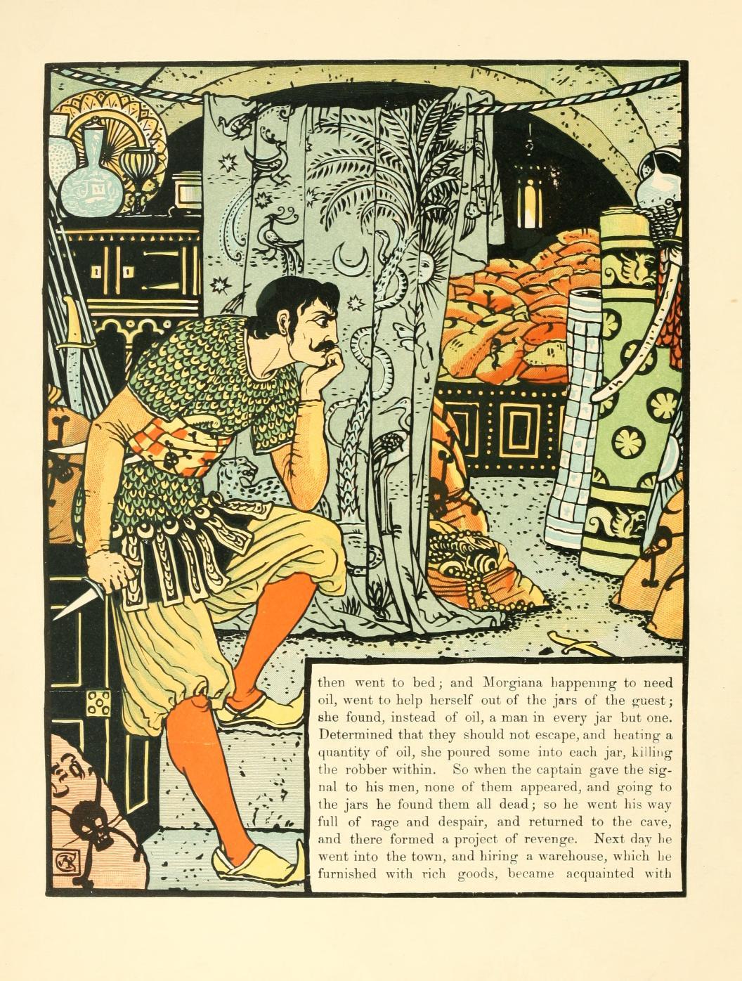 ウォルター・クレイン アリババと40人の盗賊 Crane_ali baba and the forty thieves-05