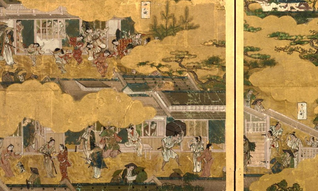岩佐又兵衛 Iwasa Matabei 洛中洛外図 舟木本Folding Screens of Scenes In and Around Kyoto (Funaki Version)-34