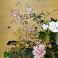 四季草花虫図 1