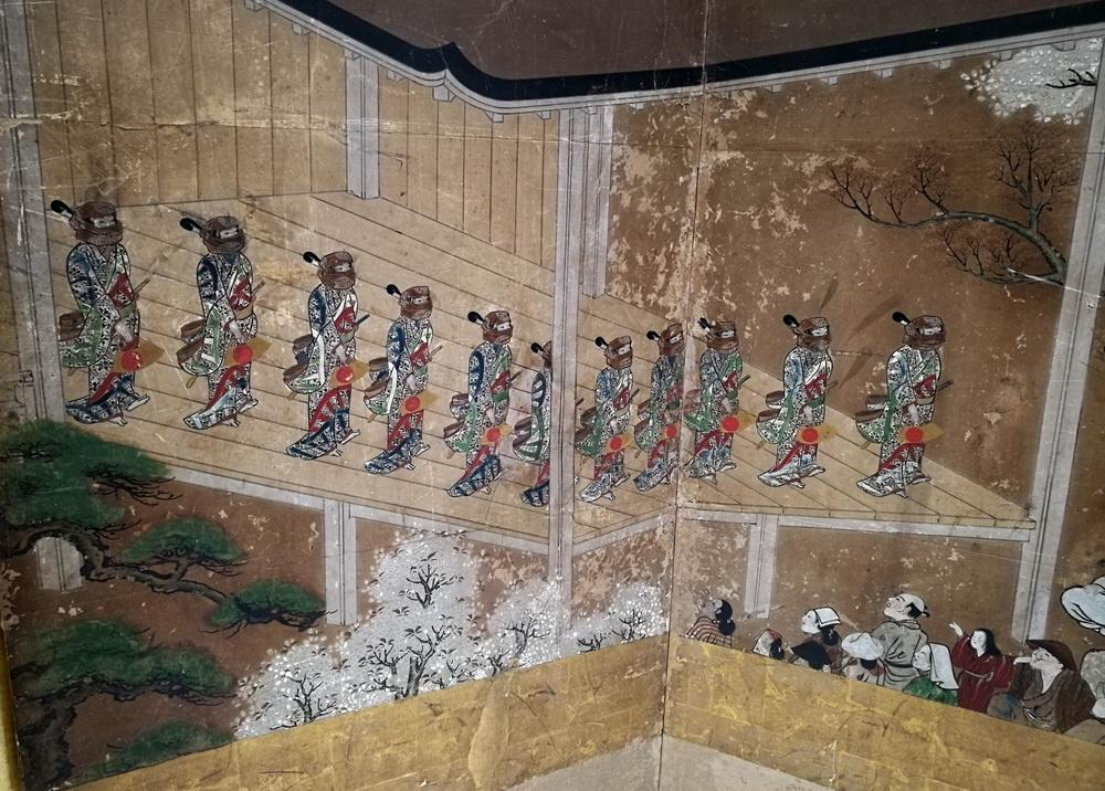 歌舞伎遊楽図屏風