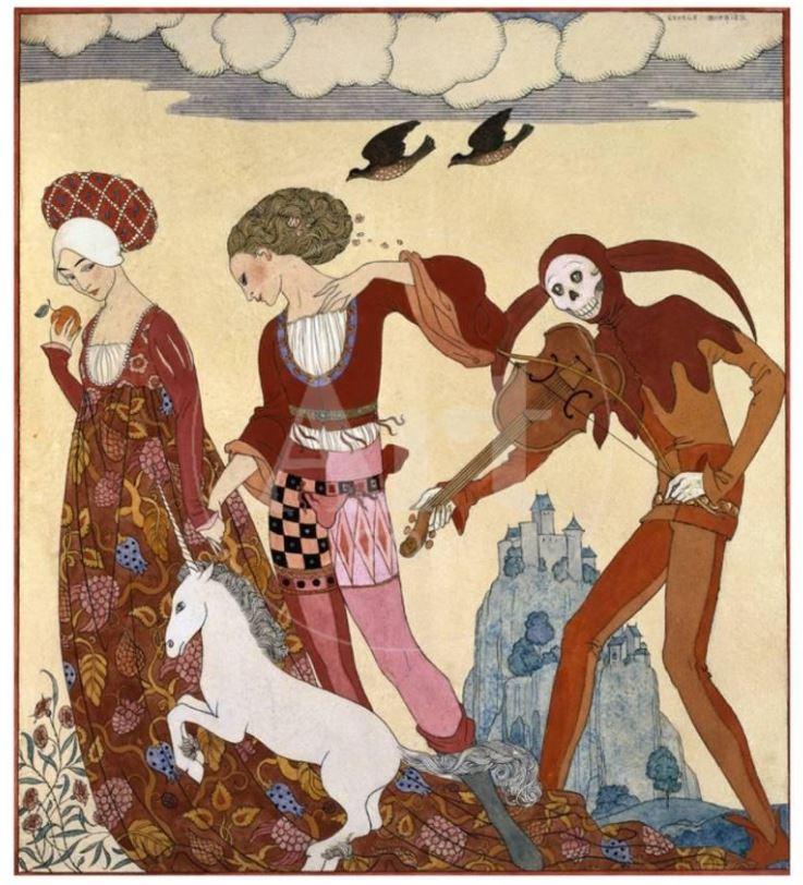 Georges Barbier Medieval Scene