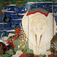 鳥獣花木図屏風  Choju Kaboku-zu Byobu(Birds and Animals in the Flower Garden)