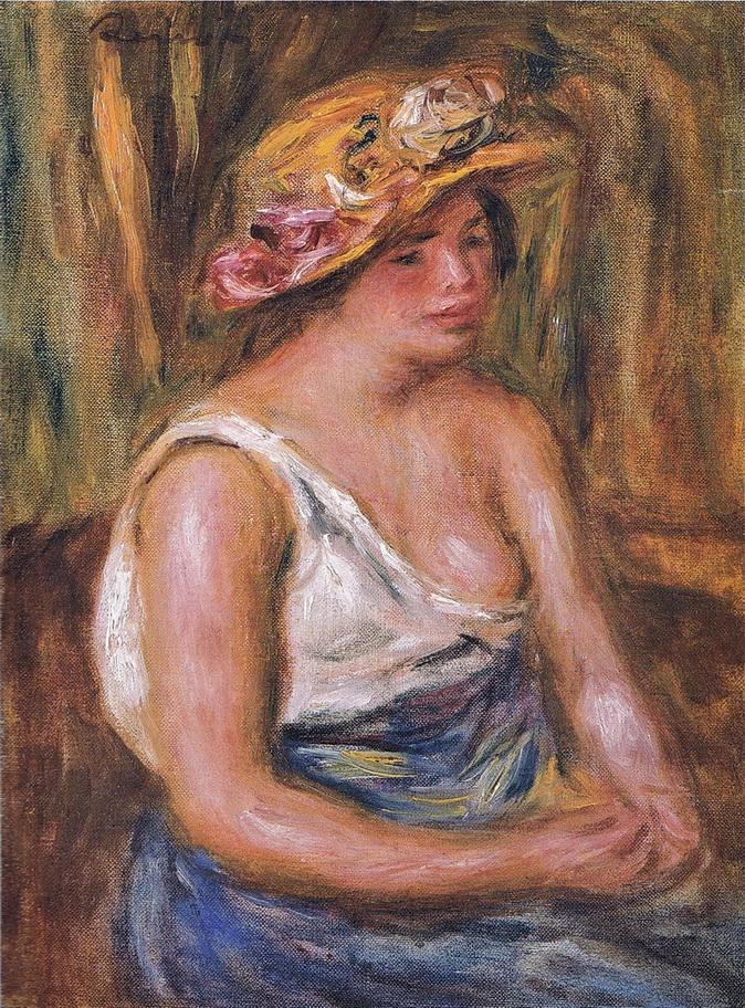 麦わら帽子の女