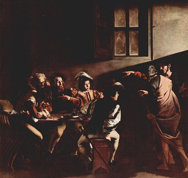 カラヴァッジョ『聖マタイの召命』