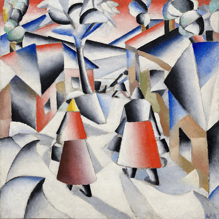 Malevich_Morning in the Village after Snowstorm