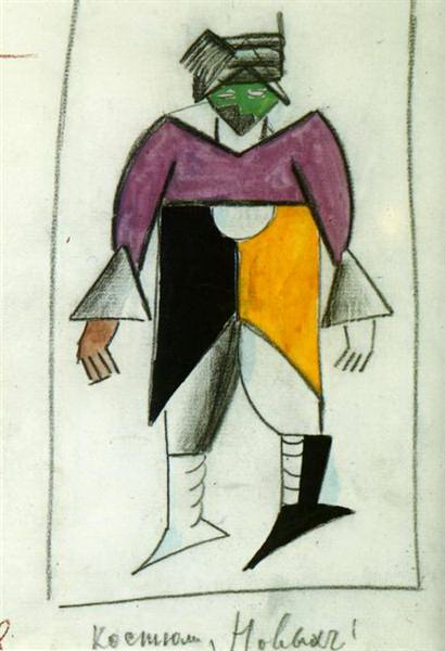 Malevich_new man_Victory over the Sun