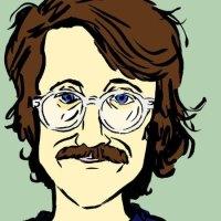 Илюстрован автопортрет на Нейтън Гелгуд