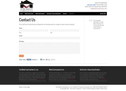 Contact Us - Malot Companies