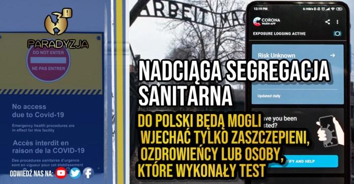 Nadciąga segregacja sanitarna. Do Polski będą mogli wjechać tylko zaszczepieni, ozdrowieńcy lub osoby, które wykonały test