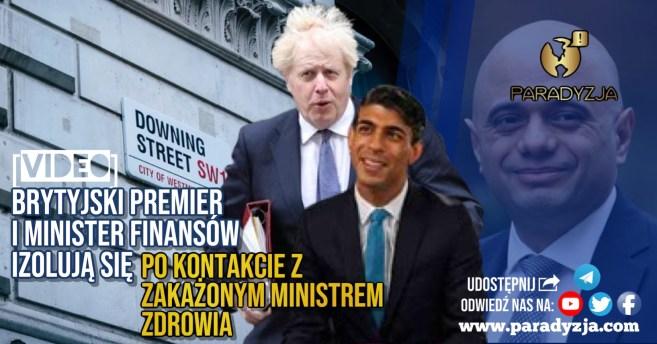 Brytyjski premier i minister finansów izolują się po kontakcie z zakażonym ministrem zdrowia [VIDEO]