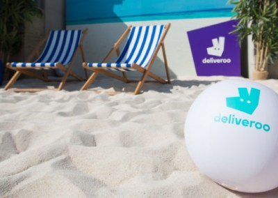 "Deliveroo ""Brings the beach"""