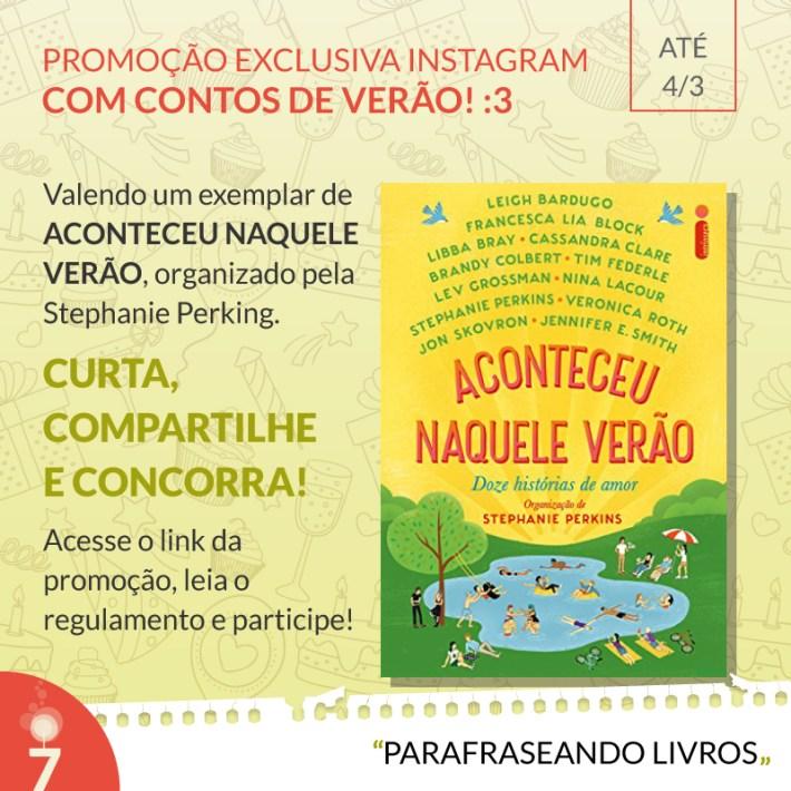 Promoção 7 anos de Parafraseando Livros - Intrínseca
