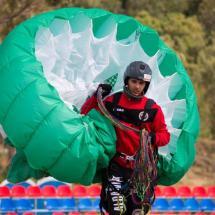 Paragliding_Albania_9th_FAI_green_parachute