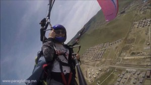 passenger on tandem paragliding flight