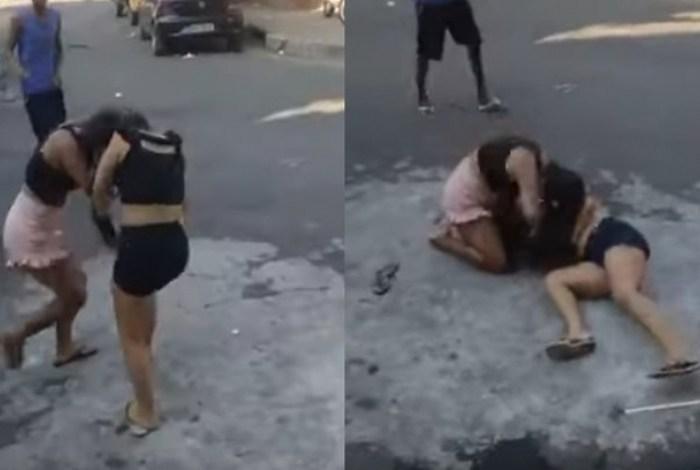 Desumano: Mulher mata amante do pai espancada e pessoas filmam a briga – VEJA VÍDEO