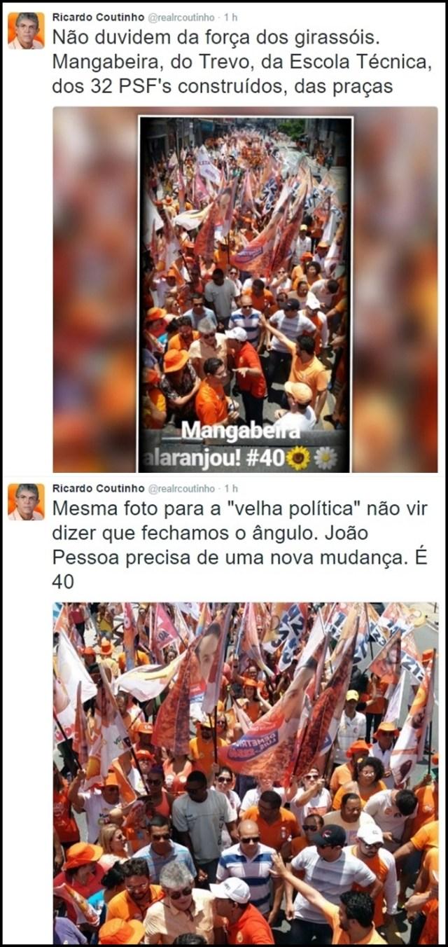 """RC usa o twitter pra comentar campanha: """"não duvidem da força dos girassóis"""""""
