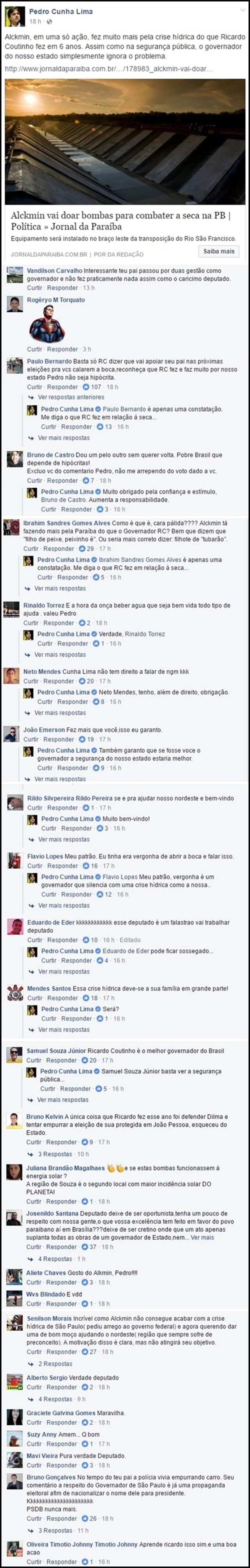 Filho de Cássio ataca Ricardo nas redes sociais e sofre 'bombardeio' de críticas