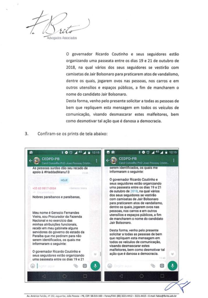 WhatsApp Image 2018 10 16 at 17.04.19 - RC pede ao MPF abertura de investigação contra procurador da Fazenda por disseminar fake news