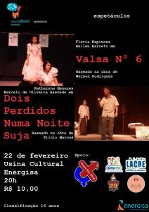 Mostra Universitária apresenta clássicos da dramaturgia na Usina Cultural Energisa