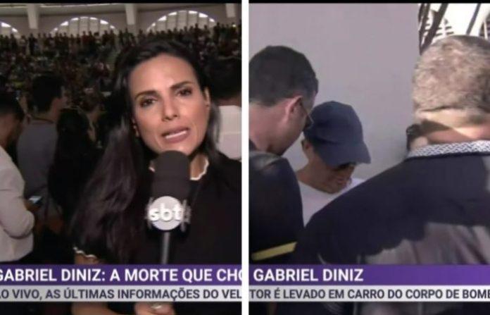 Repórter do SBT sofre tentativa de roubo enquanto cobria ao vivo velório de GD