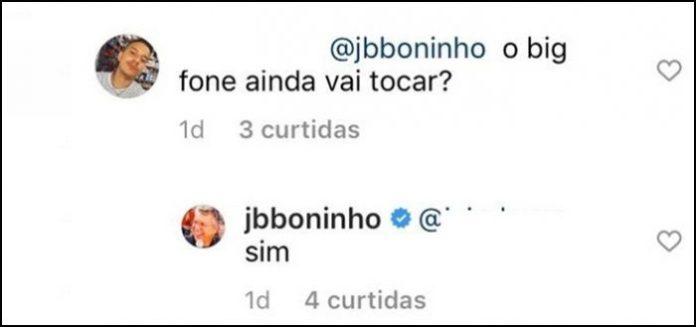Diretor do BBB 21, Boninho diz por que não segue Juliette no Instagram