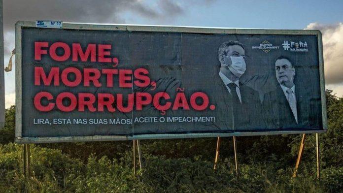 Campanha: outdoors cobram de Lira abertura do impeachment de Bolsonaro