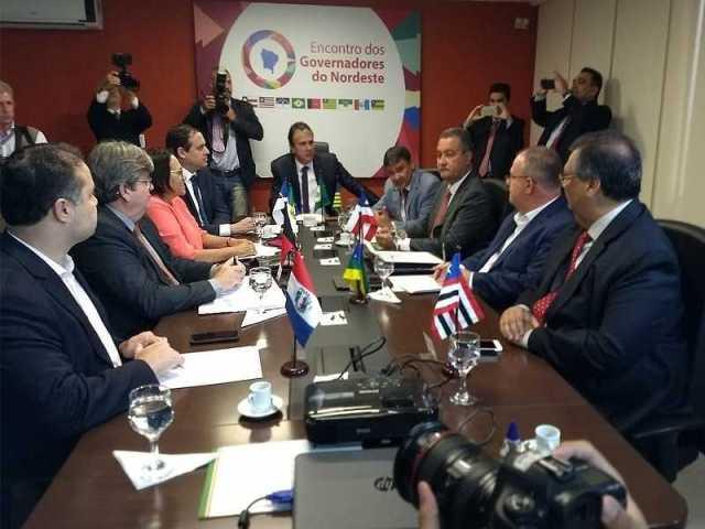 encontro de governadores do nordeste 14l - Em Brasília, João Azevêdo destaca importância da união entre os Estados do NE para a construção de pautas unificadas