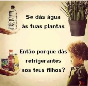 Água e refrigerante