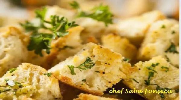 Tem Na Web - Como fazer Croutons - Ideal para petisco ou então misturado em saladas