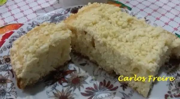Tem Na Web - Receita de bolo de baunilha com farofa - Ideal para café ou lanche!