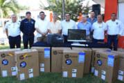Donan equipo de cómputo a la Academia de Policía y Tránsito