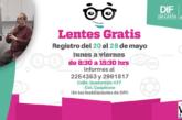 Prepara DIF entrega de lentes gratis a personas que lo requieran