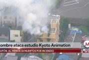 Van 33 muertos por incendio en estudios de anime en Japón