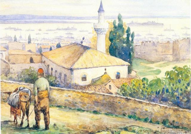 """Τεκές των """"Κήπων του Πασά"""". Andre Beronnese 1917. Συλ. Καλφαγιάν"""