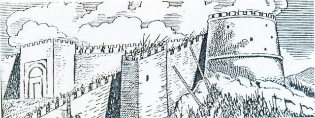 Αναπαράσταση της κατάληψης της Θεσσαλονίκης του Φ. Μαστιχιάδη, από το «Μακεδονικό Ημερολόγιο» του Ν. Σφενδόνη, Θεσσαλονίκη 1968, σ. 183.