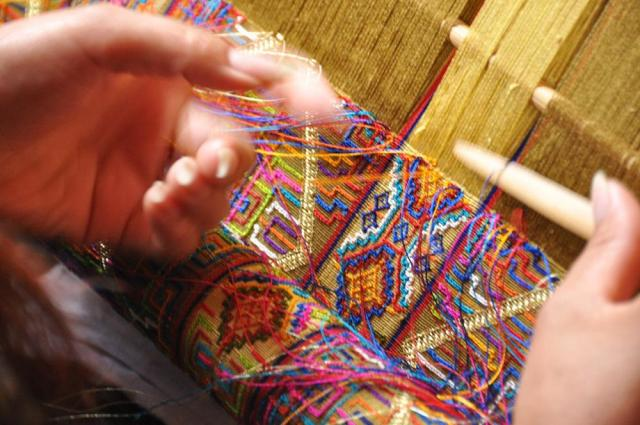 and weaving
